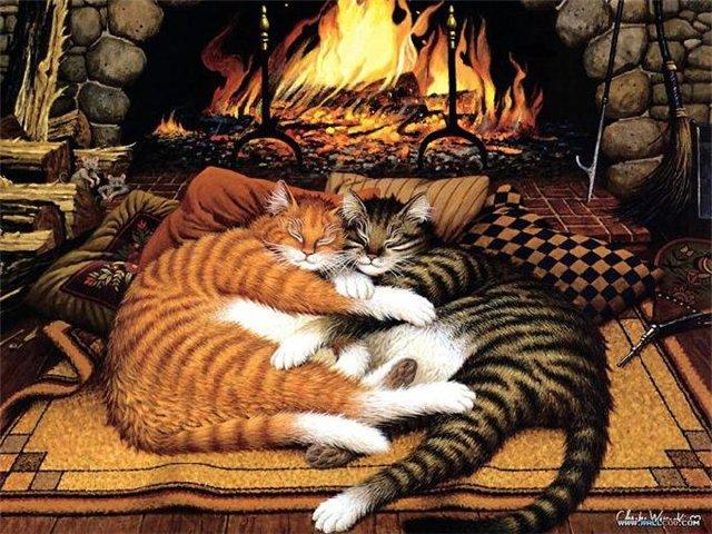 Charles wysocki и его кошки