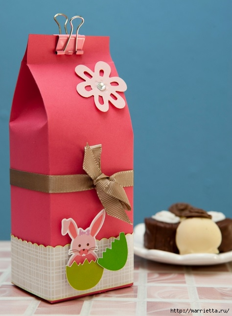 Embalaje para un regalo de Pascua con sus propias manos.  Plantilla (1) (474x646, 133Kb)