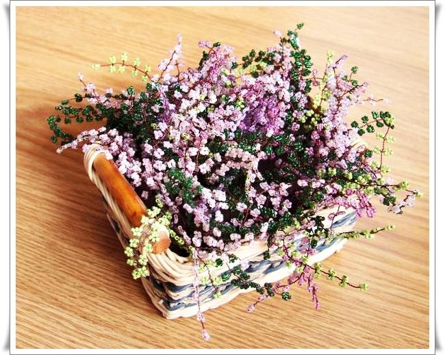 Теги: бисер, бисероплетение, цветы из бисера, вереск, цветы.  Виды творчества: Плетение Бисероплетение Куклы и...