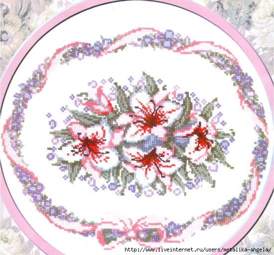 Схема вышивки лилия - схемы
