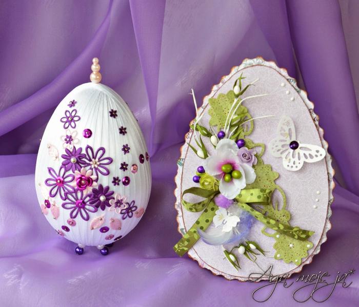 Шелково-ленточные пасхальные яйца (23) (700x598, 436Kb)