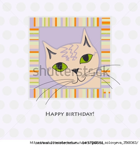 stock-photo-cute-birthday-card-with-cat-rasterized-vector-vector-file-is-also-available-in-my-portfolio-143709661 (450x470, 80Kb)