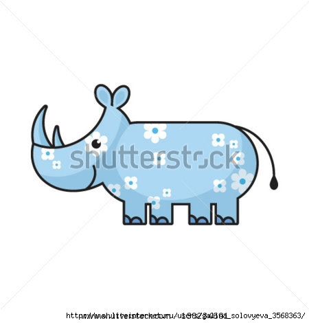 stock-vector-cartoon-rhino-136234691 (450x470, 48Kb)