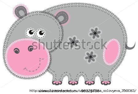 stock-vector-fabric-animal-cutout-hippo-cute-animal-character-in-decorative-style-on-white-98225786 (450x308, 70Kb)