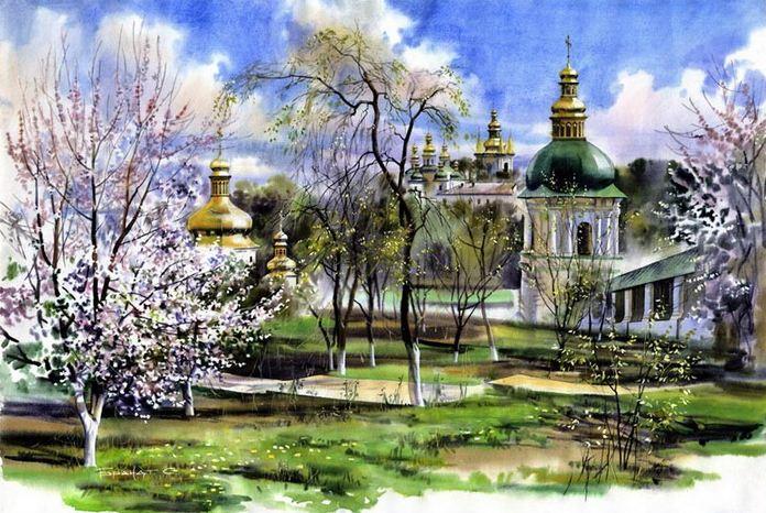 Sergey-Brandt.-Gorodskoy-peyzazh-akvarelyu.-Monastyirskiy-sad.-50h75 (896x666, 105Kb)