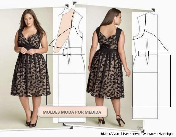 Как сшить платье для полных