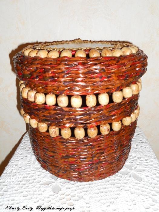 плетение из газетных трубочек. корзинки (24) (525x700, 465Kb)