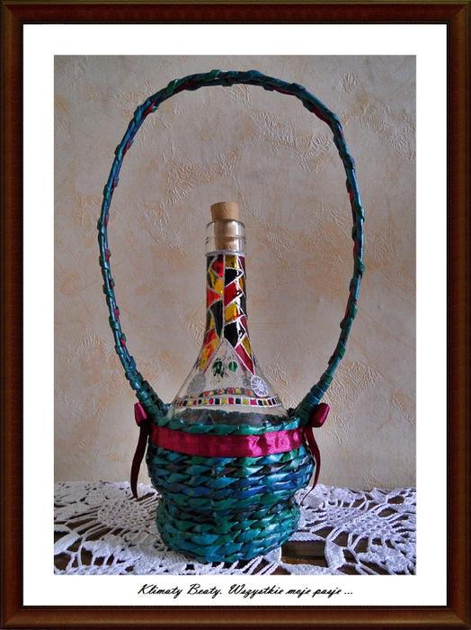 плетение из газетных трубочек. корзинки (110) (524x700, 430Kb)