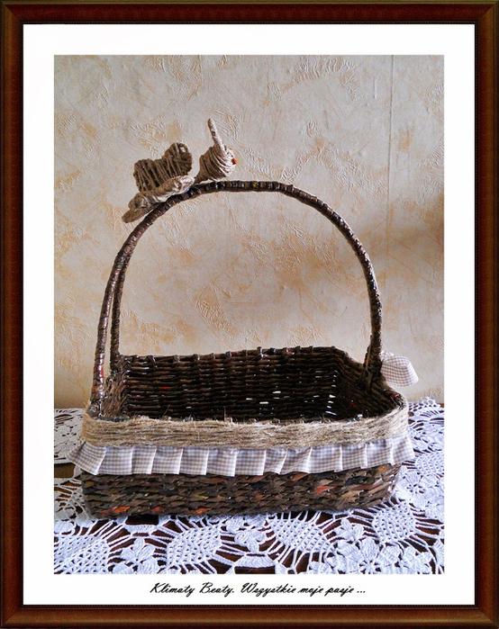 плетение из газетных трубочек. корзинки (125) (554x700, 499Kb)