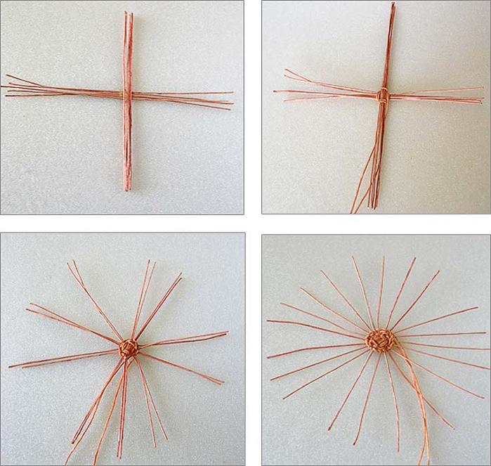 Плетение из нити. Корзинки (1) (700x663, 375Kb)