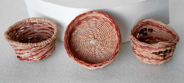 Плетение из нити. Корзинки (10) (700x317, 213Kb)