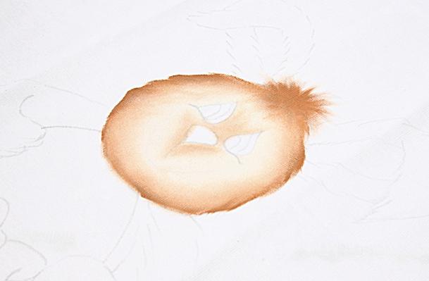 Роспись кухонного полотенца. Пасхальный кролик (4) (609x399, 413Kb)