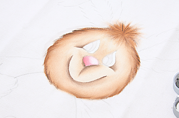 Роспись кухонного полотенца. Пасхальный кролик (6) (596x394, 458Kb)