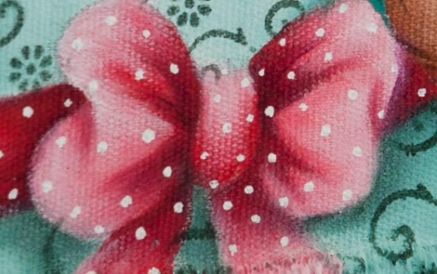 Роспись кухонного полотенца. Пасхальный кролик (15) (630x396, 672Kb)