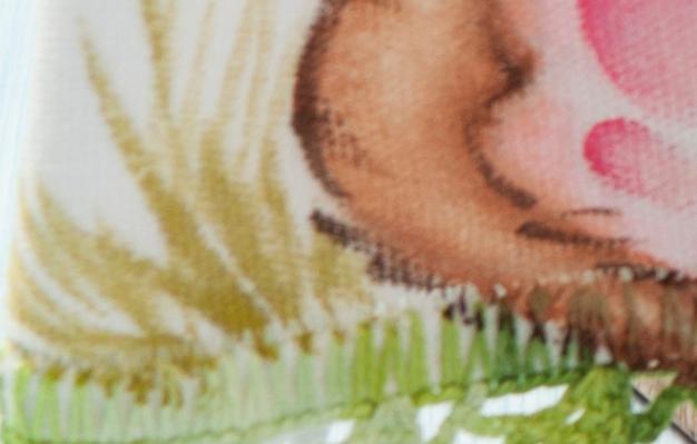 Роспись кухонного полотенца. Пасхальный кролик (17) (626x399, 583Kb)