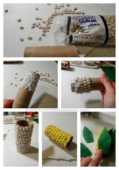 Карандашница - Початок кукурузы из фасоли (2) (490x700, 282Kb)