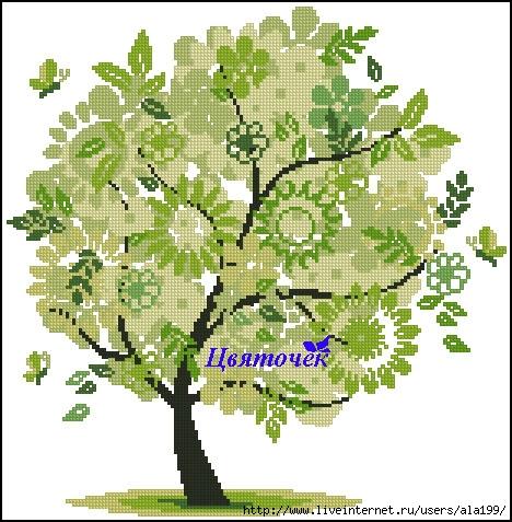 Весеннее дерево (468x477, 189Kb)