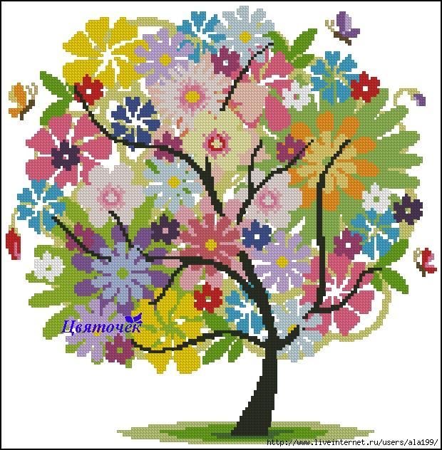 Летнее дерево (620x632, 359Kb)