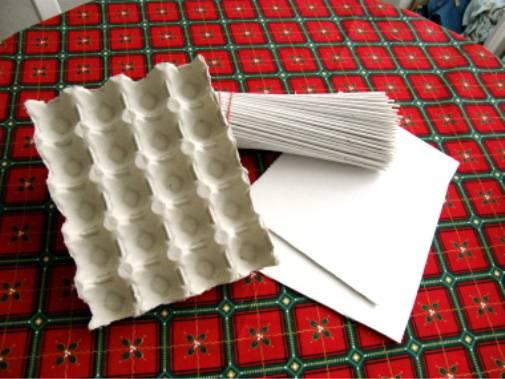 Плетение из газет. Корзинка для пасхальных яиц (7) (505x379, 180Kb)
