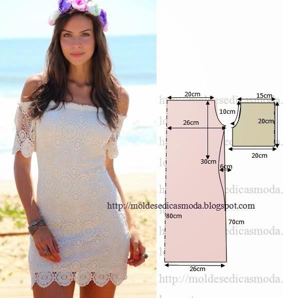 Платье с горловиной кармен