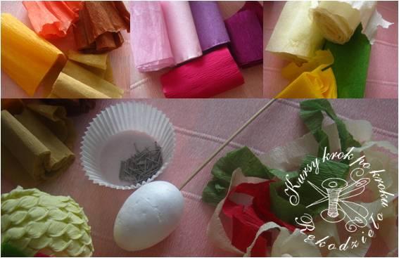 Пасхальное яйцо из гофрированной бумаги. Видео и мастер-класс (1) (567x367, 168Kb)