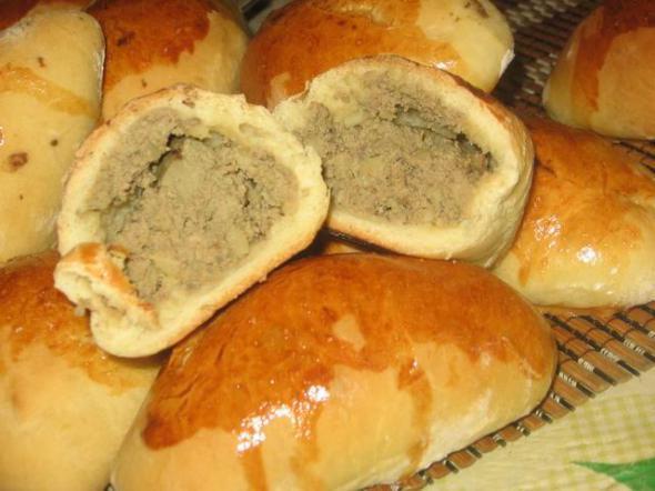 Пирожки с печенью рецепт пошагово