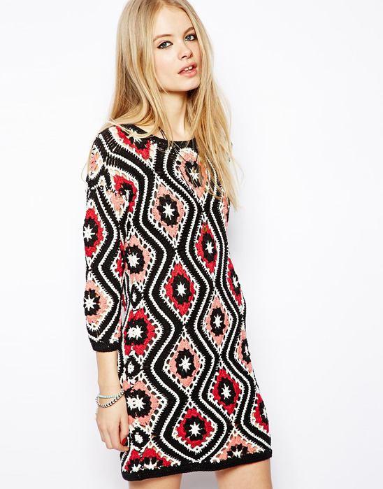 Вязаное платье в стиле