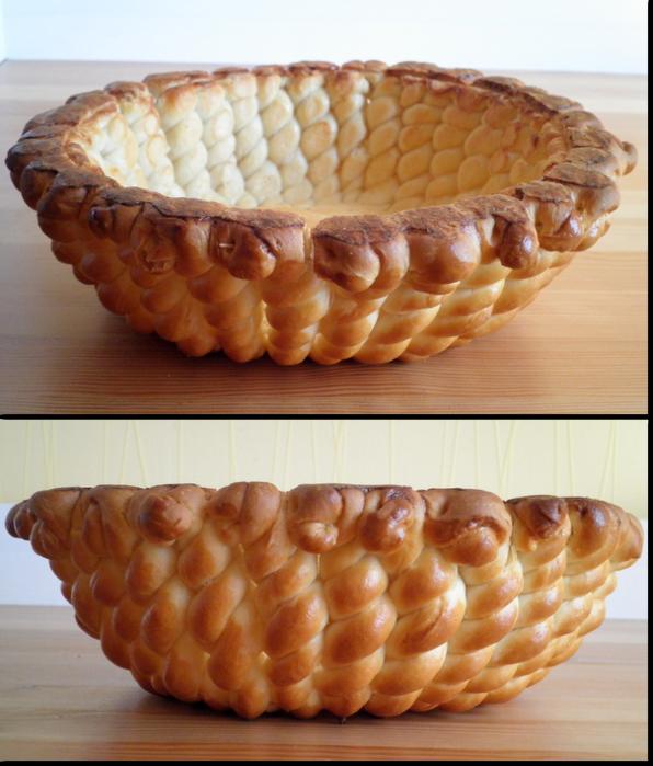 хлебная дрожжевая пасхальная корзина