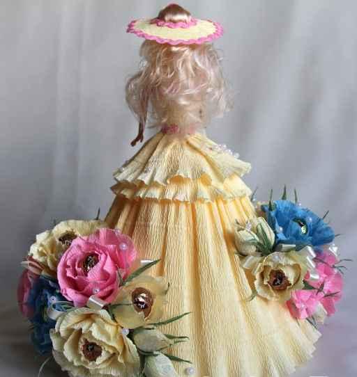 Букет из конфет мастер класс кукла 52