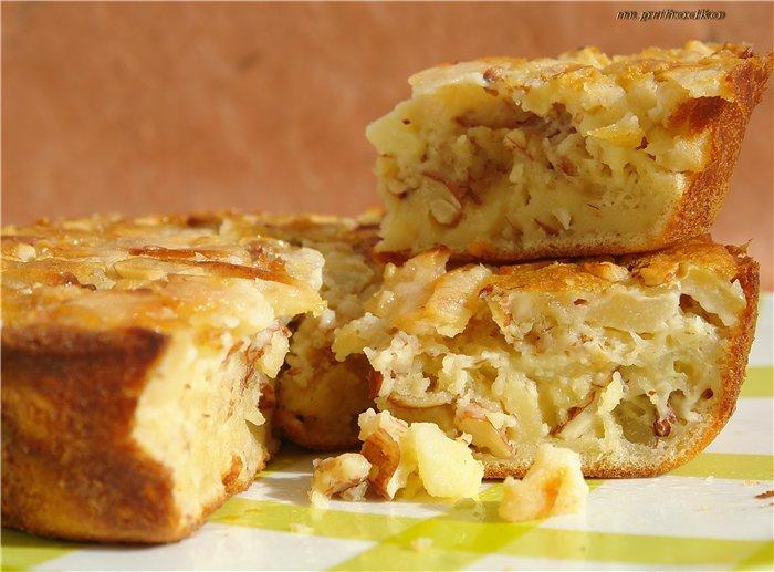 Яблочный кекс с миндалем (2) (700x517, 313Kb)