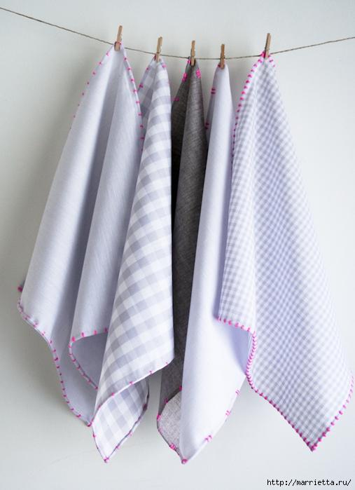 Обработка края кухонного полотенца, без швейной машинки (1) (507x700, 239Kb)