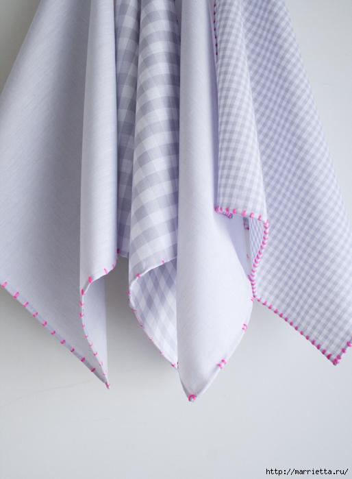 Обработка края кухонного полотенца, без швейной машинки (3) (514x700, 216Kb)