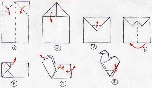 Как сделать из бумаги курочку