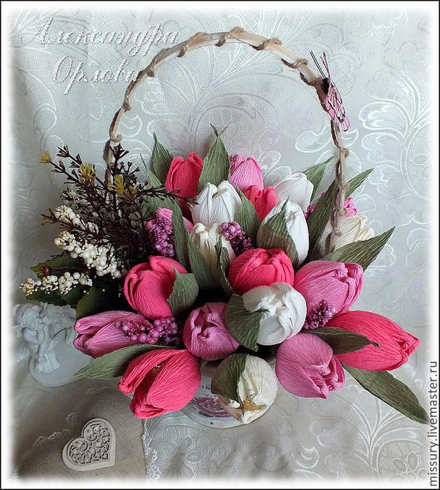 тюльпаны из бумаги (2) (628x700, 533Kb)