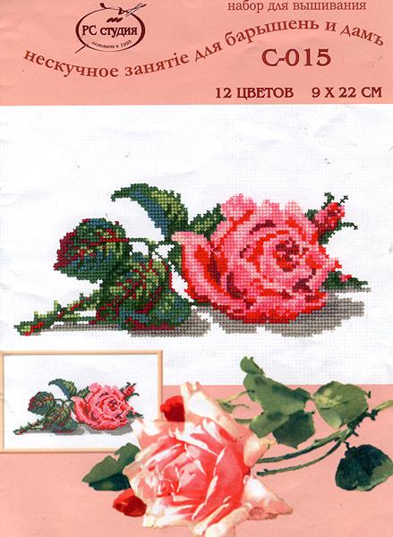Роза. Вышивка крестом