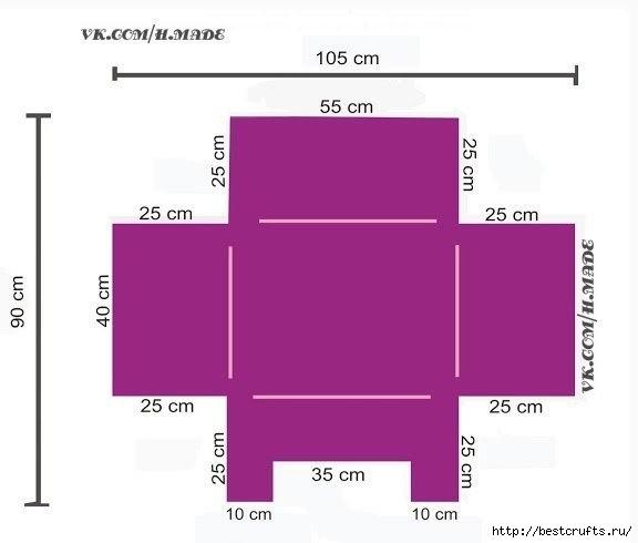 Лежак для питомца своими руками (2) (576x490, 54Kb)