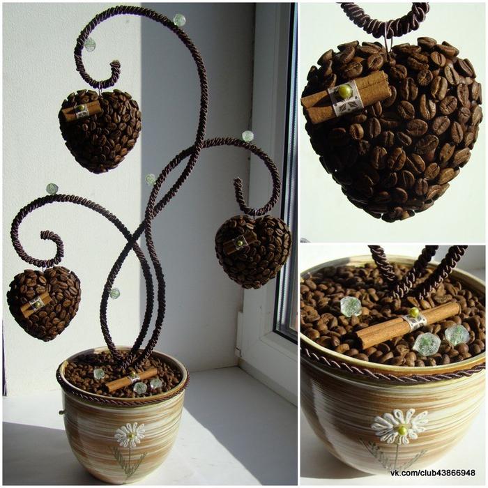 Как сделать кофейное дерево своими руками поэтапно