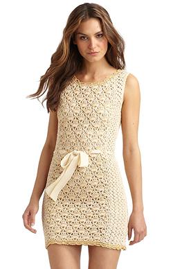 со схемой летние вязанные платья