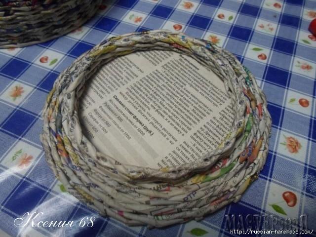шкатулка из газет с розочками из бумаги (12) (640x480, 213Kb)