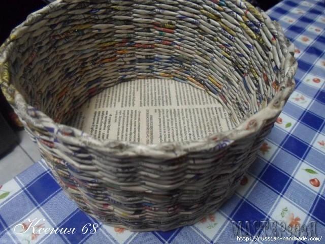 шкатулка из газет с розочками из бумаги (14) (640x480, 210Kb)
