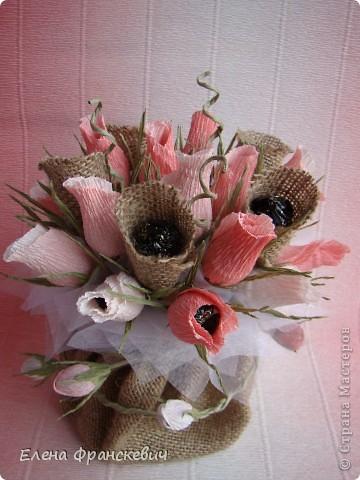 Мешковина и розы из гофрированной бумаги (14) (360x480, 158Kb)