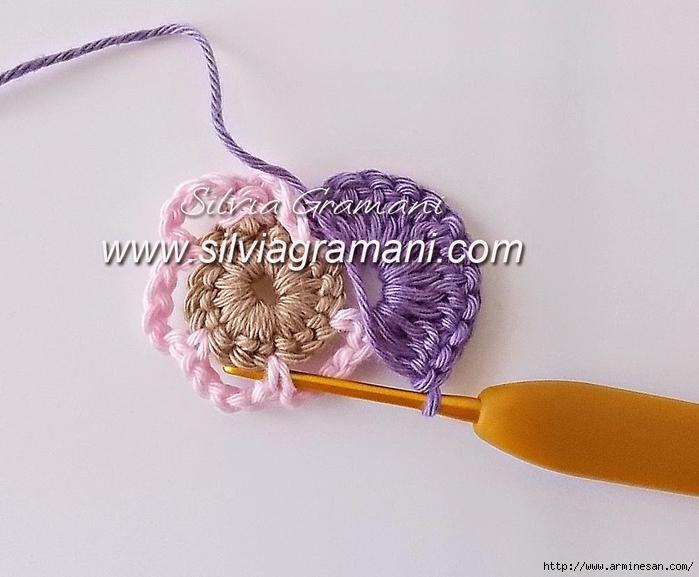 钩针教程:作为胸针的主题花 - maomao - 我随心动