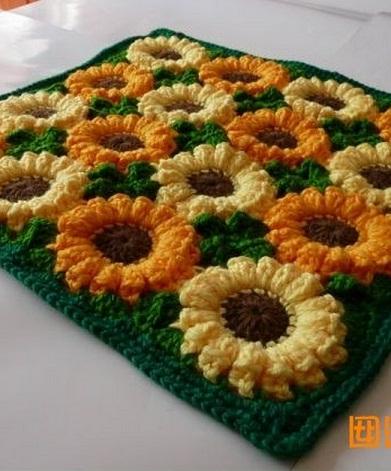 цветочный коврик для стула