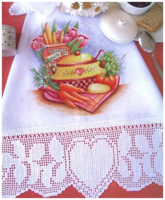 Роспись и обвязка крючком кухонных полотенец (23) (576x700, 445Kb)