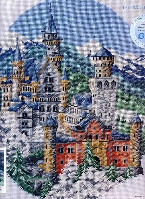 Замок нойшванштайн схемы вышивок крестом