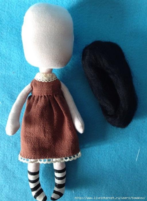 Как сшить куклу с волосами