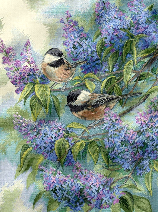 5282851_Dimensions_35258_Chickadees_and_Lilacs (524x700, 418Kb)
