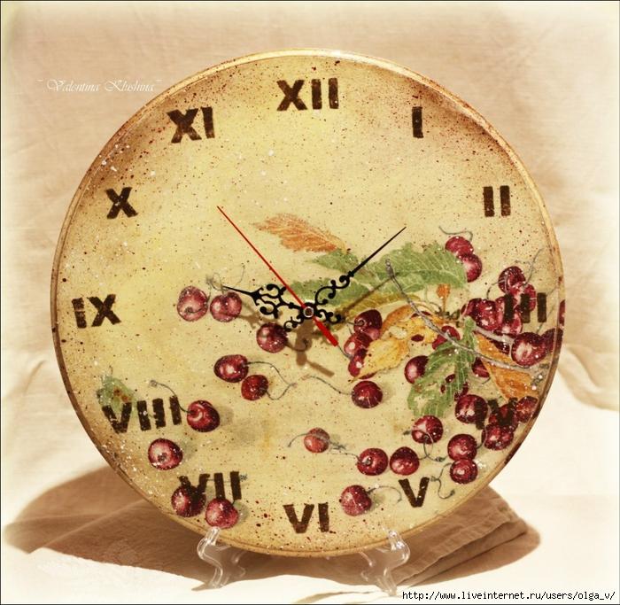 Часы своими руками декупаж мастер класс