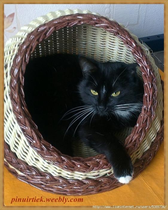 Как сделать домик для кошки из газетных