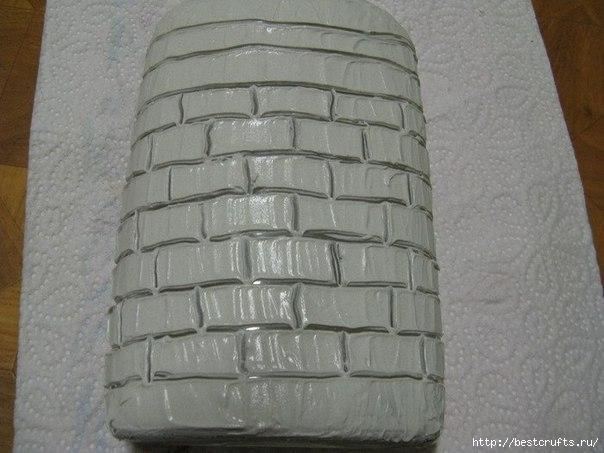 Бутылка с кирпичной кладкой МК (3) (604x453, 132Kb)